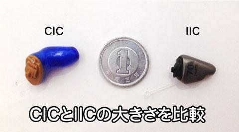 目立たない補聴器 大きさ 比較