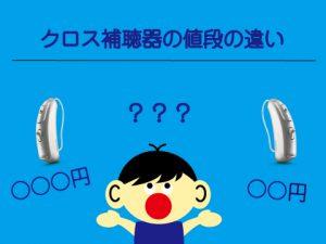 クロス補聴器 値段 違い
